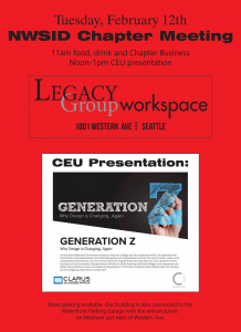 **SNOW CANCELLATION***NWSID Chapter Meeting at Legacy Group @ Legacy Group Workspace | Seattle | Washington | United States