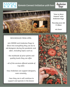 RESCHEDULED: NWSID Remote Connect - Andonian Rugs @ Zoom